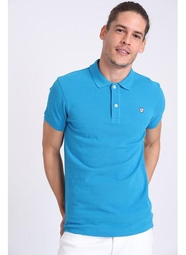 Lufian Polo Yaka Tişört Mavi